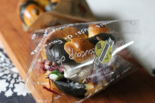 かぼちゃベーグルサンドランチ